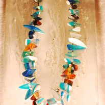 SOLD Blue Resin Necklace