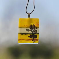 Yellow Tree of Life Pendant