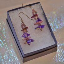 Purple Resin Earrings