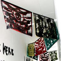 Political Papel Picado exhibition