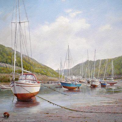 Sailboats at Solva