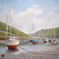 Sailboats at Solva
