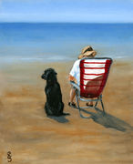 Dog and Deck Chair