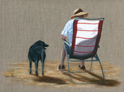Labrador and Deck Chair