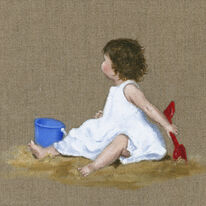 Polly with bucket and spade