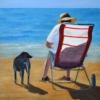 Dog and Deck Chair (new)