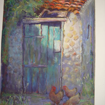 Privy with Chickens