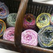 spinning and knitting