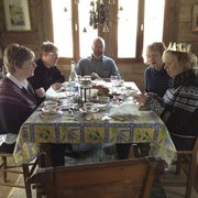 Crowning of queen Sheila at Sunday lunch