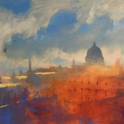 View Across Rooftops, St Paul's