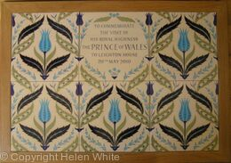 Panel of hand-painted tiles for Leighton House