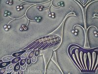 Peacocks with Tree of Life - Detail