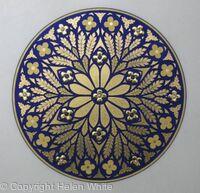 Illuminated RoseWindow - Byzantine Leaf