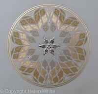 Illuminated Rose Window - Golden Light