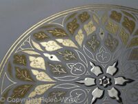Illuminated Rose Window - Golden Light - detail