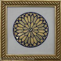 Miniature Illuminated Rose Window - Byzantine Leaf