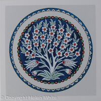 Iznik Plate: Prunus Tree