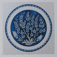 Iznik Plate: Almond Blossom