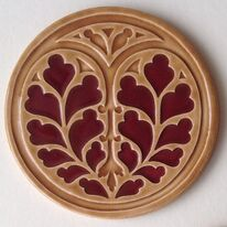 Heart of Yorkshire Coaster - Burgundy