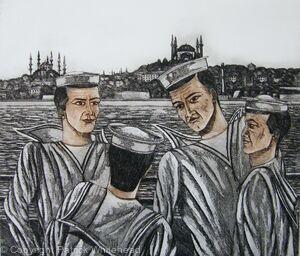 Sailors on the Bosphorus, Istanbul