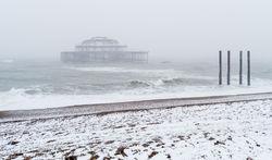 West Pier snowstorm
