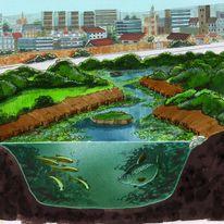 Degrading river