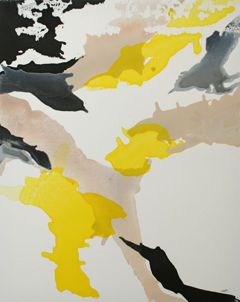 yellow, black and nude bleed no. 2