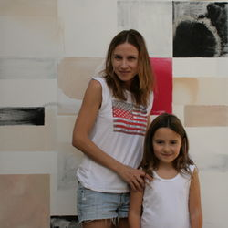 lela and stella with hot pink bleed no. 2