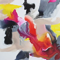 pink, grey and yellow bleed no. 2