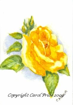 Original OSWOA Yellow Rose Painting