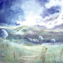 Storm Clouds Wolstenbury by Penny Hopkins