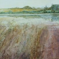 River Adur with Lancing College by Krysia Drury