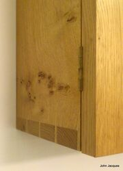 Dovetailed corner with rich figuring