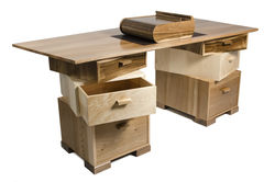 Stack Desk with Wlanut Humidor