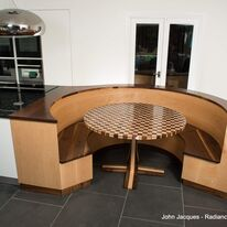 Curved seating area