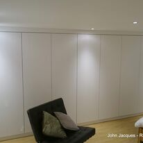 Simple Clean White Wardrobes