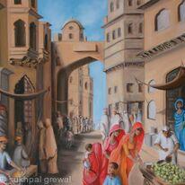 Bazaar at midday