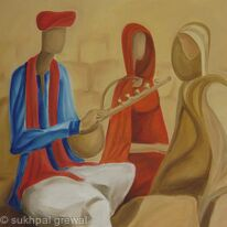 Musician with Women
