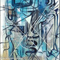 Blue abstract 5