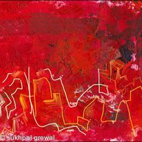 Red abstract 1