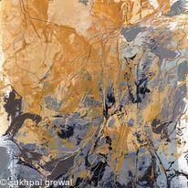 Grey Yellow abstract