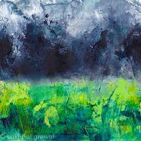 Green Grey painting