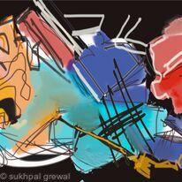 Abstractart by Sukhpal Grewal