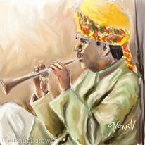Flute player India