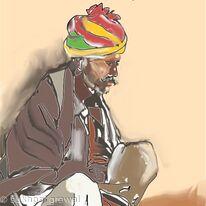 Rajasthani man India