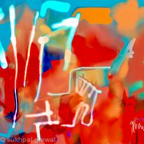 Blue abstract expressionism