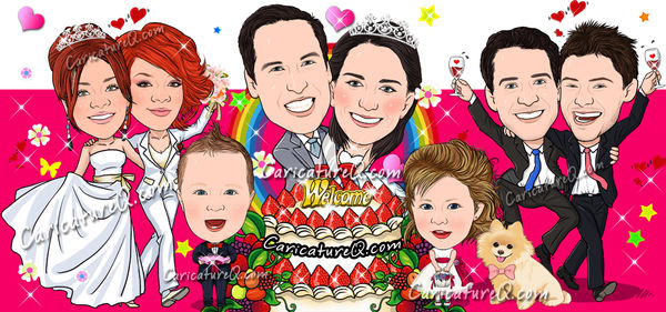CaricatureQ.com Custom Caricatures From Photos Gifts
