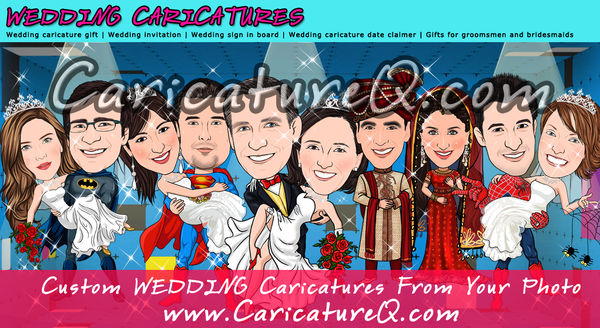 Wedding Custom Caricatures From Photos Gifts