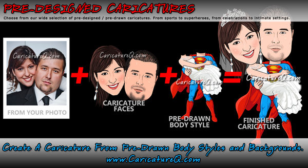 Pre-designed Caricatures From Photos Gifts
