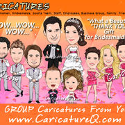 Group Custom Caricatures From Photos Gifts